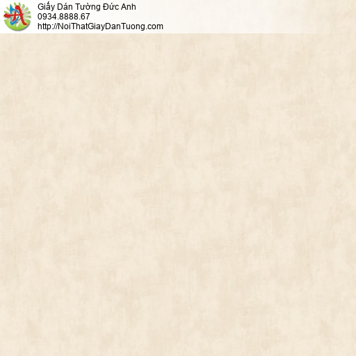 81085 Giấy dán tường vân bê tông màu trứng gà, giấy trơn gân vàng nhạt