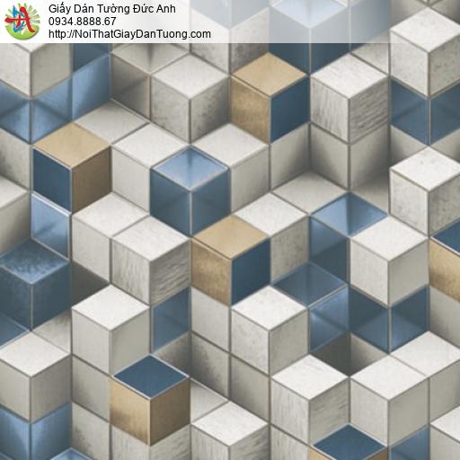 81101 Giấy dán tường lập thể 3D nhiều màu, giấy dán tường 3D hình hộp