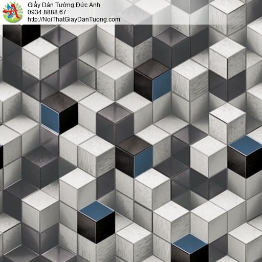 81102 Giấy dán tường lập thể 3D, giấy dán tường 3D hình hộp