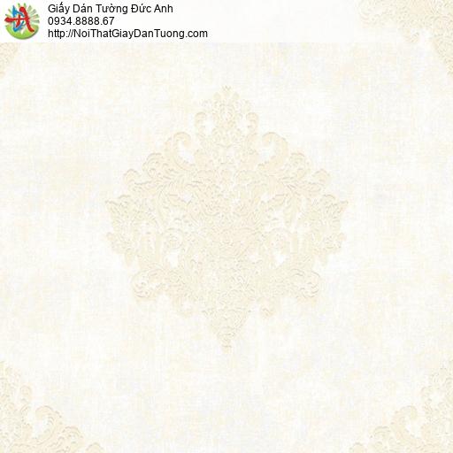 81203 Giấy dán tường cổ điển màu vàng nhạt,phong cách Châu Âu vàng kem