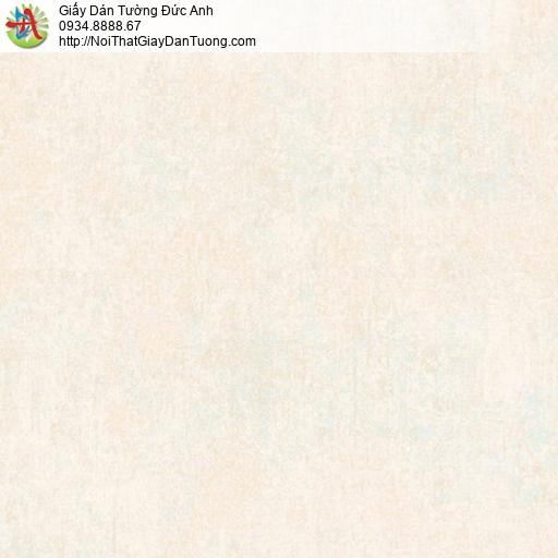 81212 Giấy dán tường gân màu vàng kem, giấy trơn màu vàng nhạt