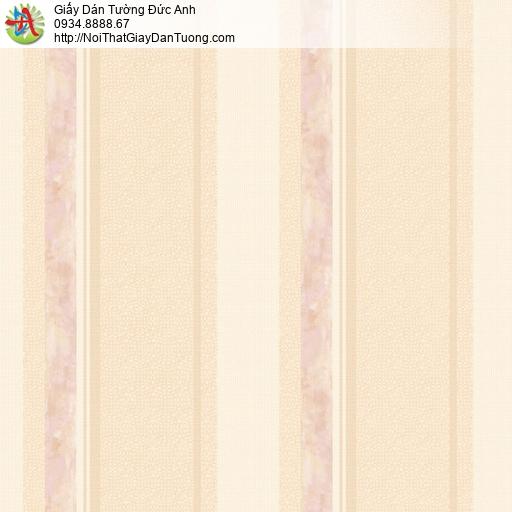 81242 Giấy dán tường dạng sọc lớn màu vàng cam, giấy sọc màu cam vàng
