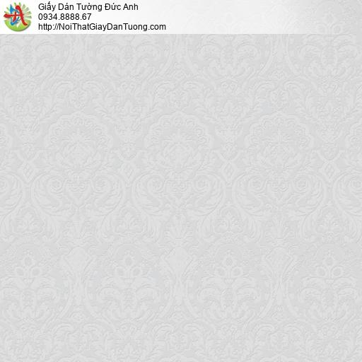 2001-1 Giấy dán tường cổ điển hoa văn chìm màu xám, phong cách châu Âu