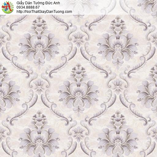 81253 Giấy dán tường phong cách Châu Âu cổ điển màu xám nâu, nâu nhạt