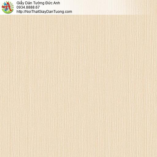 81261 Giấy dán tường sọc nhỏ nhuyễn màu vàng nhạt, phong cách hiện đại