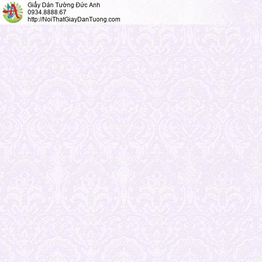 2001-3 Giấy dán tường cổ điển màu tím nhạt, hoa văn cổ màu tím nhạt