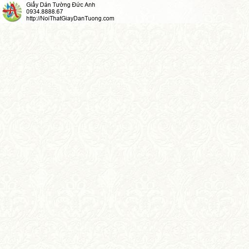 2001-4 Giấy dán tường hoa văn cổ điển Châu Âu màu kem, màu vàng kem