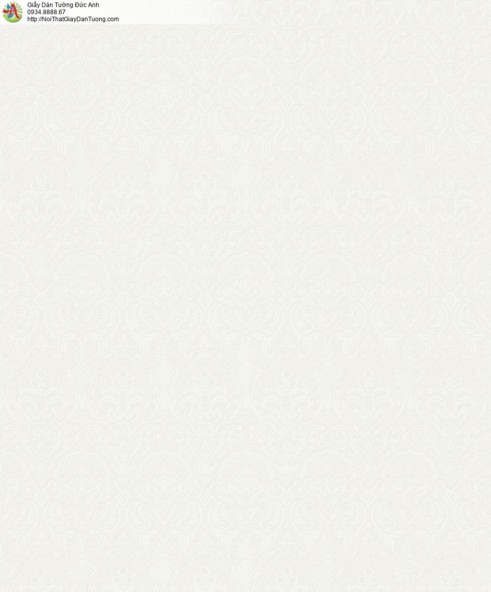2001-5 Giấy dán tường hoa văn cổ điển màu vàng nhạt, màu xám vàng