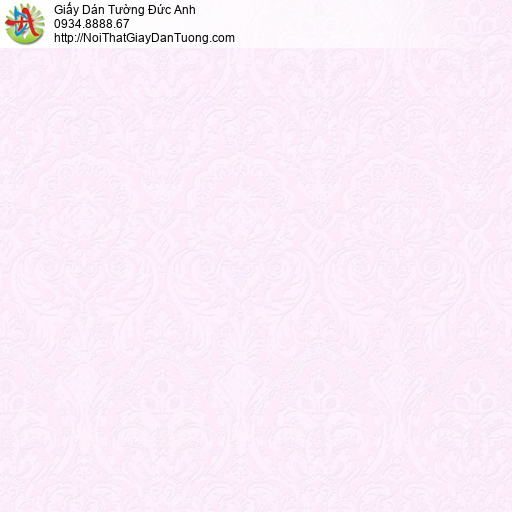 2001-7 Giấy dán tường màu tím nhạt, hoa văn cổ điển màu hồng nhạt