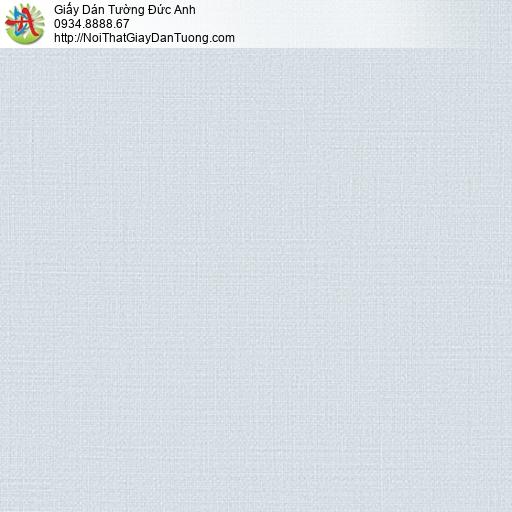 2005-2 Giấy dán tường đơn giản màu xanh nhạt, giấy gân màu xanh lơ lợt