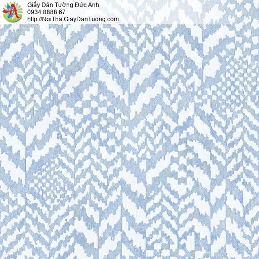 2006-5 Giấy dán tường hiện đại màu xanh nước biển, họa tiết xanh dương
