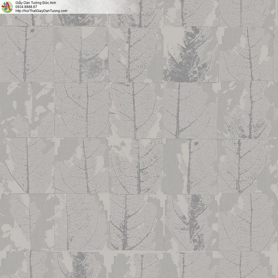 2007-1 Giấy dán tường hình lá cây khô màu vàng kem