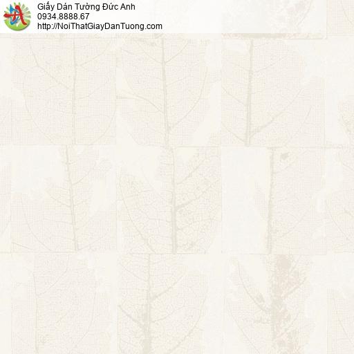 2007-2 Giấy dán tường lá cây khô màu vàng nhạt, màu vàng kem