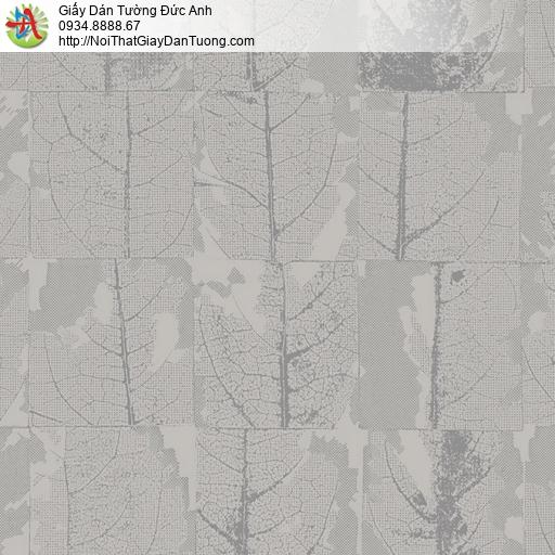 2007-3 Giấy dán tường hình lá cây khô màu xám