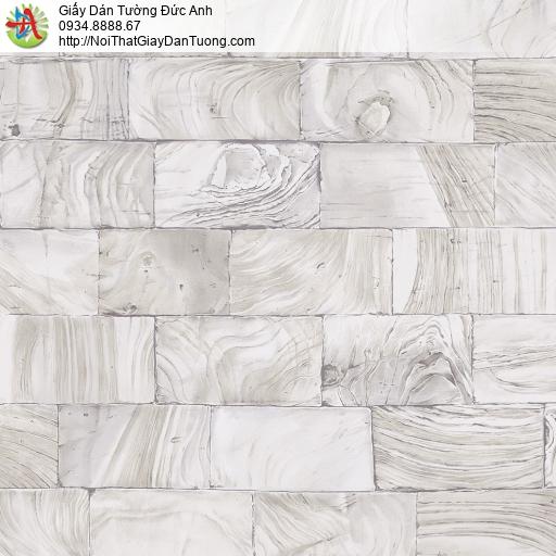 2009-3 Giấy dán tường giả gạch thẻ, bức tường đá dạng thẻ màu xám nhạt