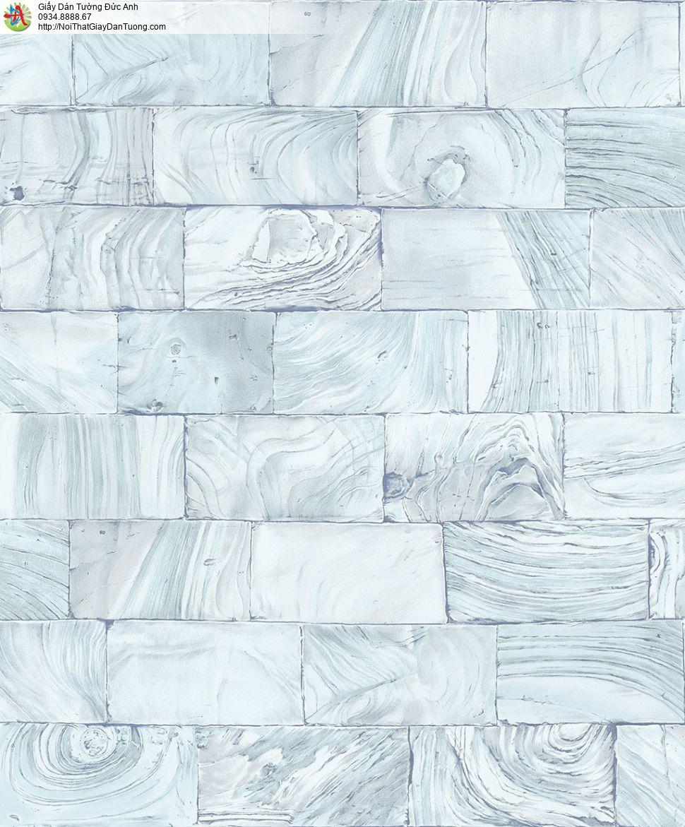 2009-4 Giấy dán tưởng giả đá thẻ màu xanh nước biển