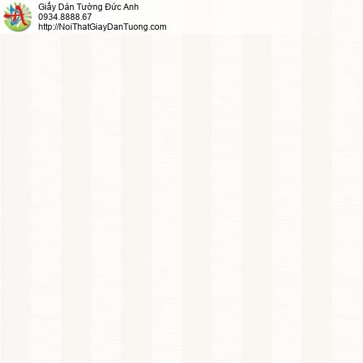 2010-3 Giấy dán tường kẻ sọc màu kem, giấy sọc thẳng đứng đều nhau