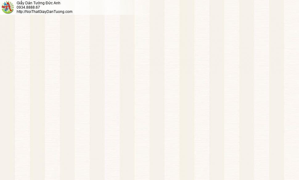 2010-4 Giấy dán tường sọc thẳng đứng màu vàng kem, tạo chiều cao cho phòng