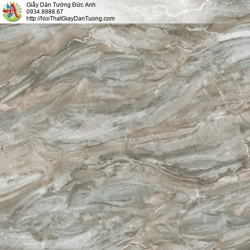 2012-1 Giấy dán tường giả đá xanh rêu marble, giả đá vân sóng xanh