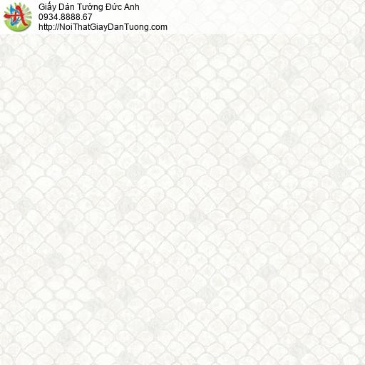 2014-1 Giấy dán tường hoa văn mái ngói, họa tiết da rắn màu trắng xám