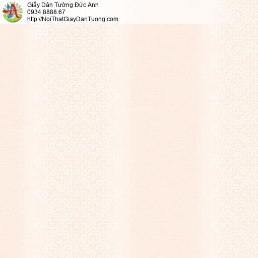 3002-2 Giấy dán tường dạng sọc ca rô màu hồng nhạt, giấy hiện đại màu hồng phấn