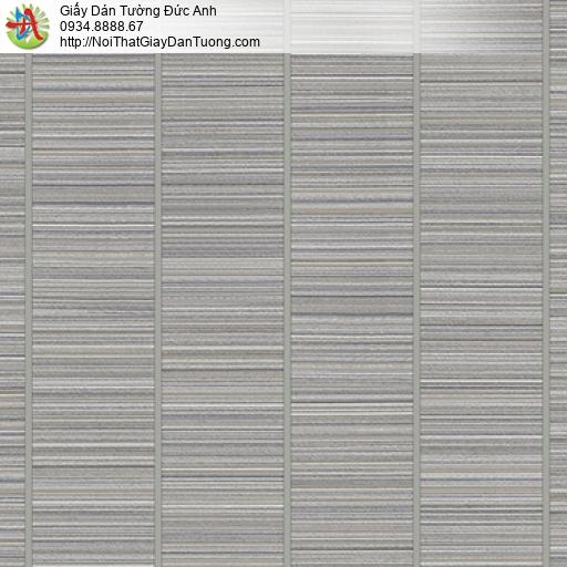 3003-5 Giấy dán tường kiểu sọc hiện đại màu xám, giấy dán tường sọc cho điểm nhấn đẹp