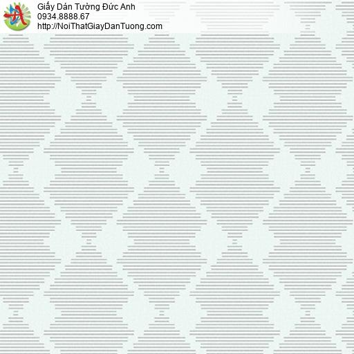 3005-2 Giấy dán tường hiện đại họa tiết ca rô màu xanh nhạt, các dòng kẻ sọc nhỏ nằm ngang