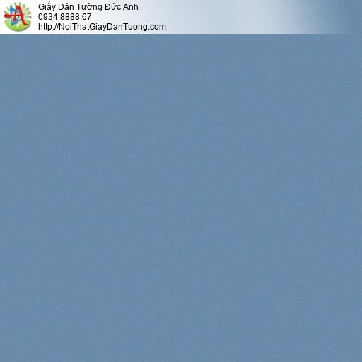 3009-14 Giấy dán tường màu xanh nước biển, giấy trơn gân đơn giản một màu hiện đại