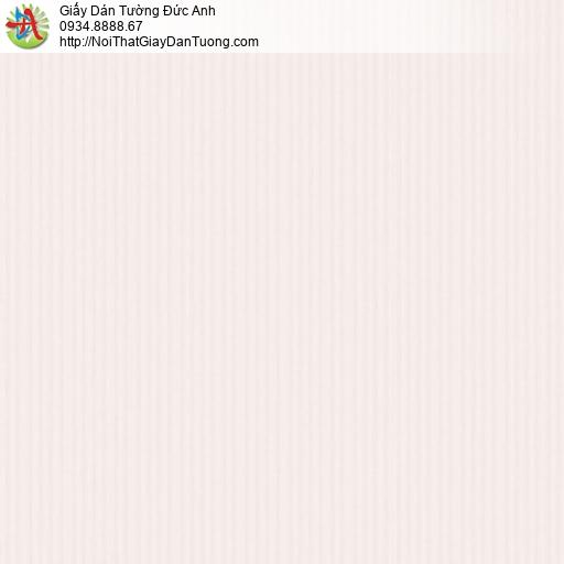 3012-3 Giấy dán tường kẻ sọc nhỏ màu hông nhạt, giấy sọc màu hồng phấn