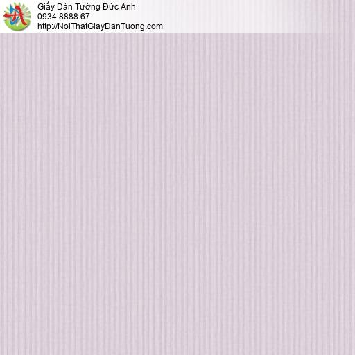 3012-5 Giấy dán tường kẻ sọc nhỏ màu tím, giấy sọc nhuyễn màu tím nhạt