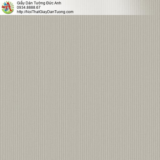 3012-8 Giấy dán tường sọc nhỏ màu xám, giấy sọc nhỏ nhuyễn màu xám vàng