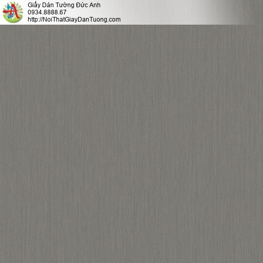 3018-10 Giấy dán tường màu xám đậm, giấy sọc màu nâu tối, màu đen