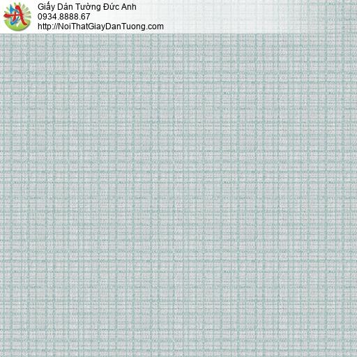 3019-2 Giấy dán tường những đường kẻ sọc ngang dọc tạo thành ô vuông nhỏ màu xanh