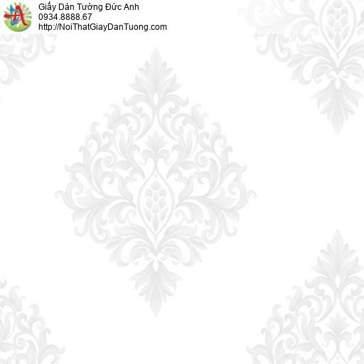 MG2001 Giấy dán tường hoa văn cổ điển nền màu trắng
