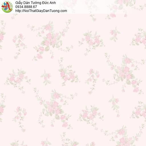 MG2055 Giấy dán tường những bông hoa màu hồng, những chùm hoa nhỏ màu hồng đẹp 2020