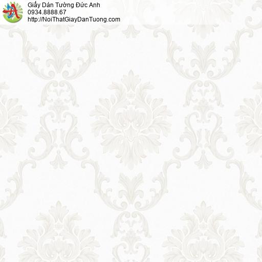 MG2076 Giấy dán tường hoa văn họa tiết cổ điển màu kem, giấy dán tường phong cách Châu Âu