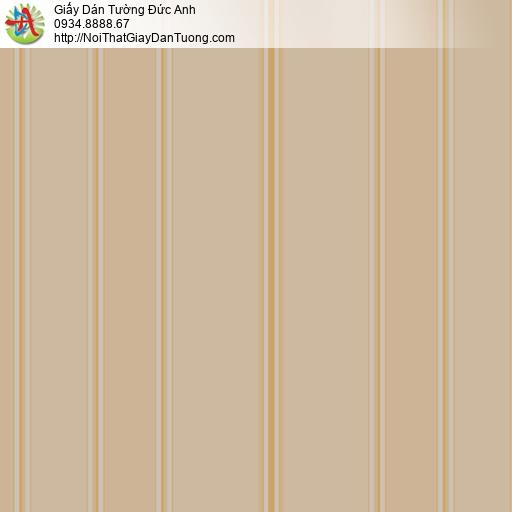 MG2083 Giấy dán tường kẻ sọc màu nâu, giấy sọc thẳng đứng tạo chiều cao cho không gian phòng
