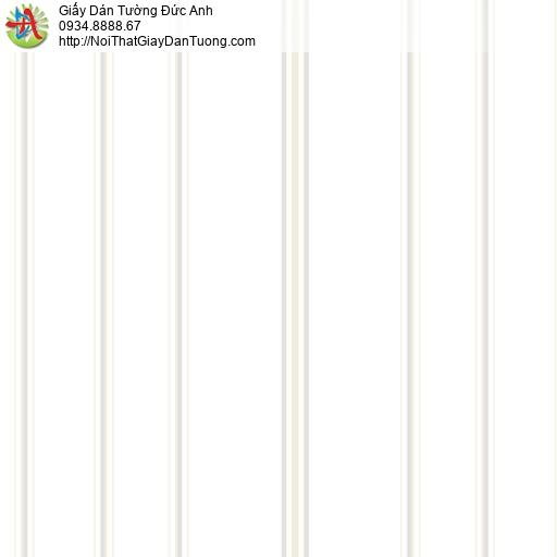 MG2086 Giấy dán tường kẻ sọc màu trắng, giấy sọc to sọc nhỏ thẳng đứng