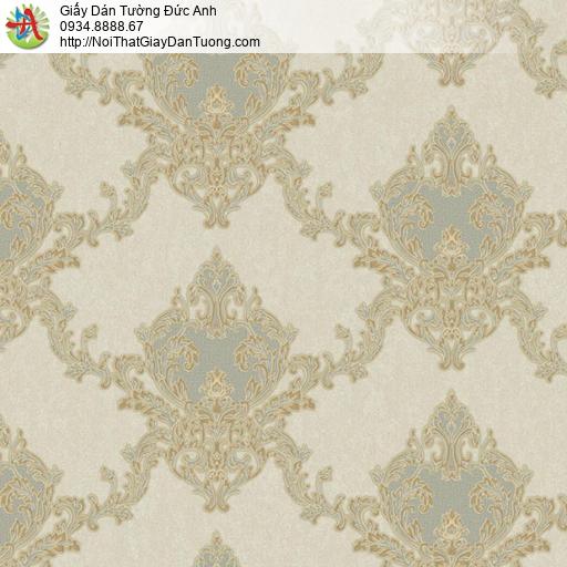 11075 Giấy dán tường cổ điển màu xám vàng, giấy dán tường có sẵn keo