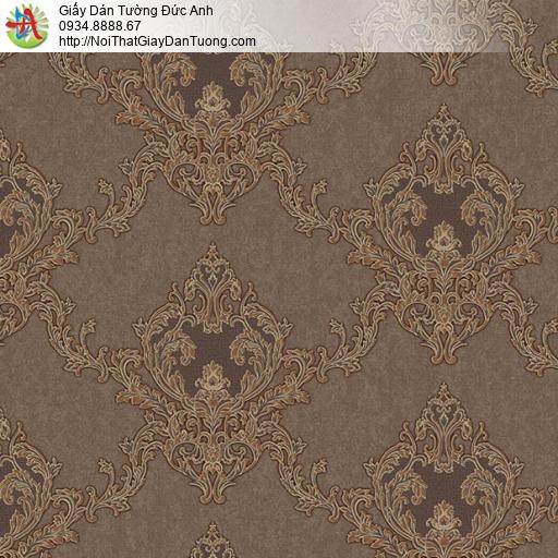 11076 Giấy dán tường cổ điển màu nâu đậm, cách phối giấy dán tường đẹp