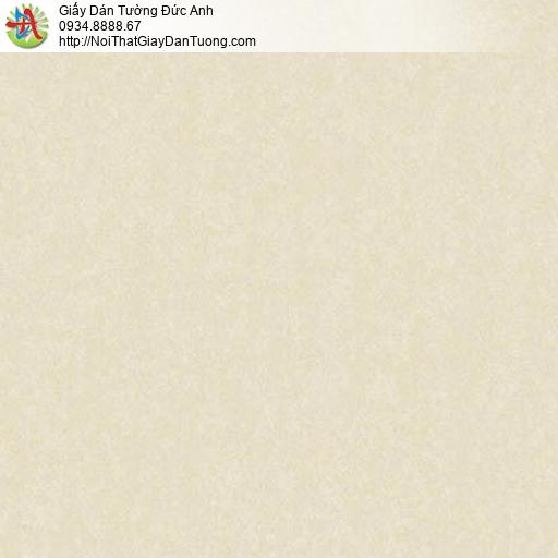 11081 Giấy dán tường màu vàng nhạt, giấy gân trơn đơn giản, đơn sắc một màu