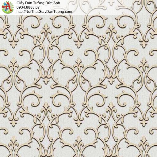 29013 Giấy dán tường cổ điển 3D màu xám vàng, nhận gỡ giấy dán tường cũ