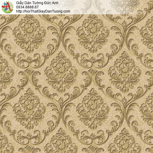 29041 Giấy dán tường điểm nhấn màu vàng, giấy dán tường cổ điển màu vàng đồng đẹp