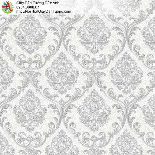 29046 Giấy dán tường màu xám cổ điển, trang trí giấy dán tường điểm nhấn