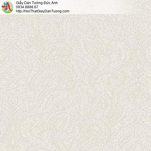 290514 Giấy dán tường họa tiết cổ điển màu xám nhạt