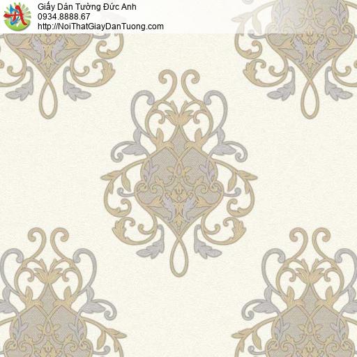 7123, Giấy dán tường dạng cổ điển màu vàng kem, giấy dán tường GRAZIELLA