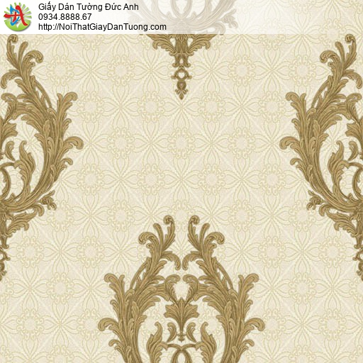 7173 Giấy dán tường phong cách Châu Âu màu vàng, giấy dán tường huyện Bình Chánh