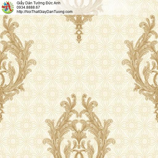 7178 Giấy dán tường phong cách Châu Âu màu vàng, cho thuê thợ dán giấy tường Tphcm