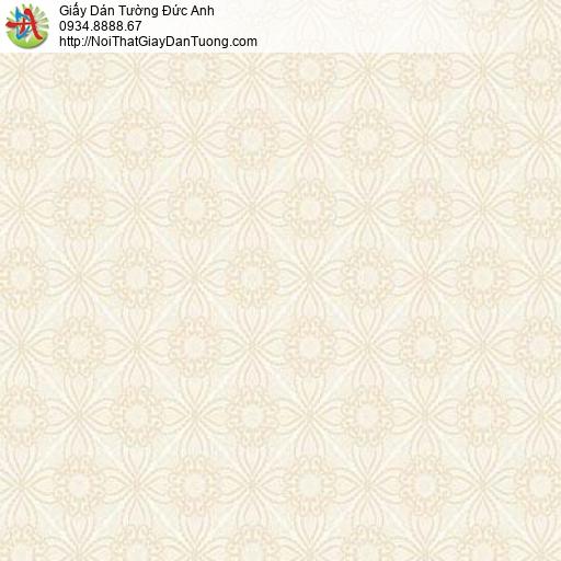 7182 Giấy dán tường hình ca rô màu vàng nhạt, cho thuê thợ dán tường Sài Gòn