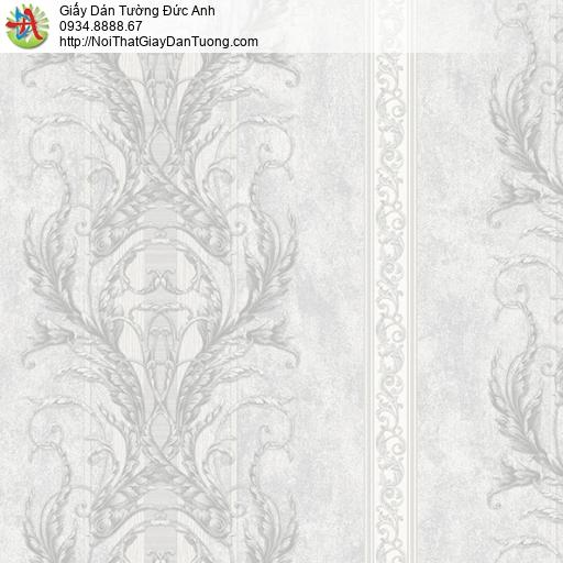 9663 Giấy dán tường hoa văn ẩn màu xám, dịch vụ đem mẫu giấy dán tường tại nhà Tphcm